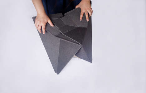 Intricate Origami Dining Sets - The 'Playtime' Collection Folds to Form Striking Furniture