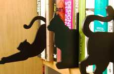 Feline Wooden Book Dividers - These Handmade Wooden Book Dividers are Perfect for Cat Lovers