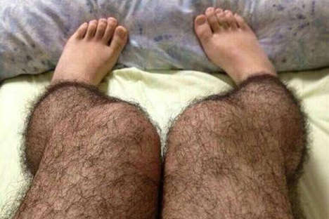 hairy stockings