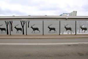This Stunning Deer Murals Looks Like Animated Animal Art to Drivers