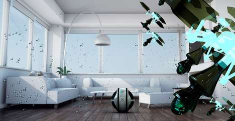 Flying Sanitation Bots - The 'Mab' Automated Cleaning System Cleans for You