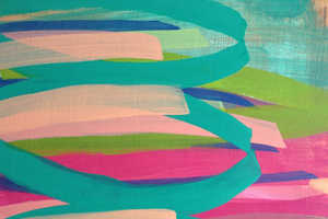 Artist Laurie Close Creates Bright Artworks Embracing Strong Lines