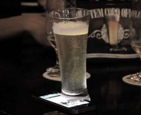 Phone-Trapping Beer Glasses - The 'Offline Glass' Forces You to Choose Between Your Phone or Beer