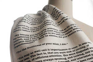This Scarf Features Quotes from Jane Austen's Pride and Prejudice