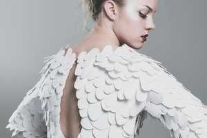 The White Reef Dress is Inspired by Underwater Environmental Degredation