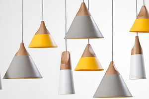 The Slope Lamp Series Features a Design with Multiple Profiles