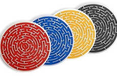 Tactile Gaming Mug Mats - Kikkerland Roll A Coasters Offer a Quick Game When Not in Use