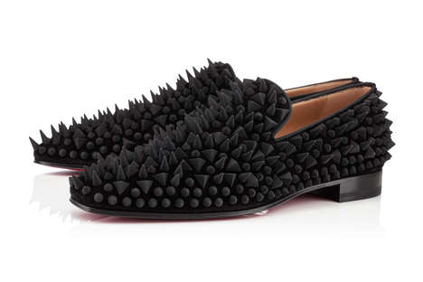 Geometrically Spiked Dress Shoes - The Louboutin Dandy Pik Pik Veau Velours Have a Punk Attitude