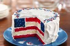 Festive American Flag Cakes - This American Flag Cake Recipe Shows How to Bake a 4th of July Cake