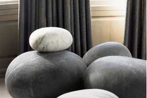 These Comfy Footstools Look Like Sleek Stones