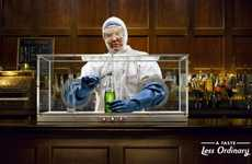 Hazardous Alcohol Ads - This Zagorka Beer Campaign Appears Dangerous at First