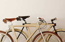 Sleek Wooden Bicycles