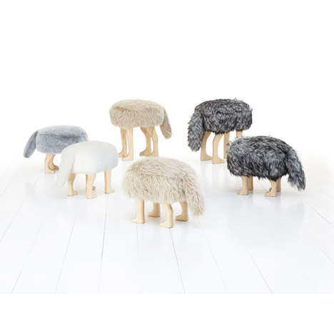 Creepy Headless Animal Furniture - The Animal Fur Seats are Great Gifts for Any Would-Be Hunter