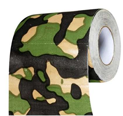 Camouflage Bathroom Rolls - This Novelty Toilet Paper is Perfect for Hunters and Fishers