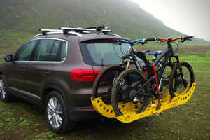 The Tuf Rack is Easily Attached to Cars for Bicycle Storage
