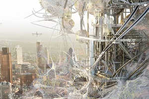 The Synth[e]tech[e]cology Tower Turns Pollution into Fuel
