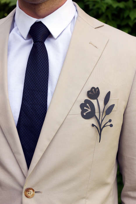 DIY Delicate Paper Boutonnieres - These Paper Boutonniere Suit Accessories Simple and Stylish
