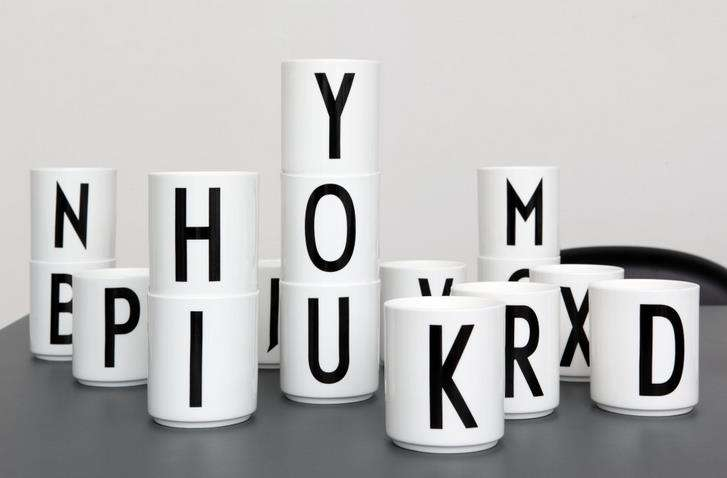 Stackable Typographic Mugs