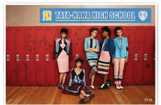 Retro Highschool Lookbooks - The Tata Naka A/W 2013 Collection Features Vintage Styling