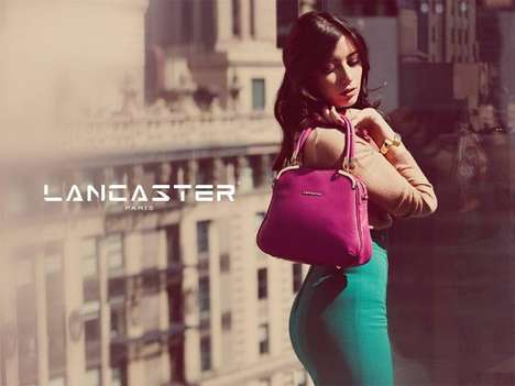 Retro Cityscape Campaigns - Daisy Lowe Stars in these Sophisticated Lancaster Fall Ads
