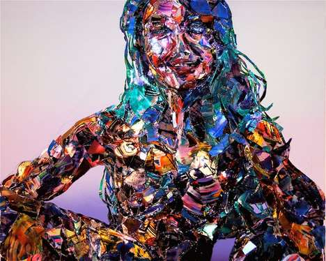 Spellbinding Collage Sculptures - The Portraits Created by Meguru Yamaguchi Mesmerize with Color