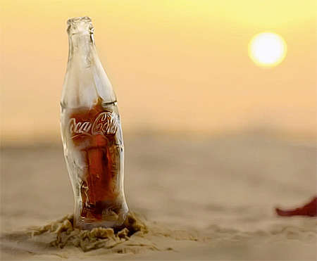 Frozen Coke Containers - The Coca-Cola Ice Bottle Makes for a Fascinating Alternative to Packaging