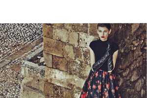 Amra Cerkezovic is Regal in Rich Ensembles for Harper's Bazaar