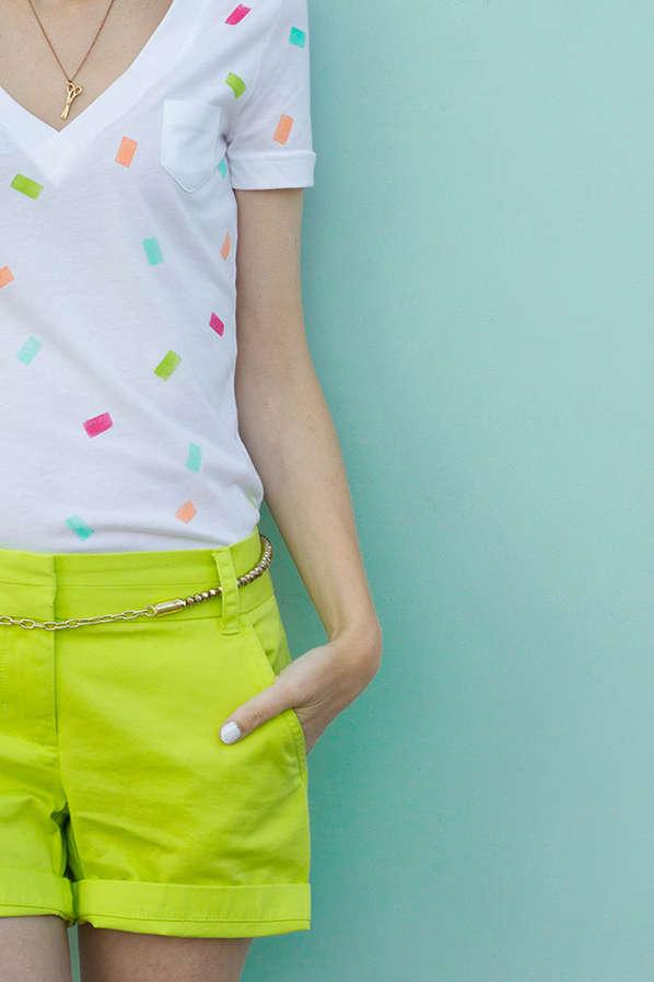 DIY Confetti Shirt