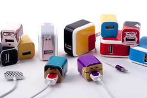 Whooz Vinyl Labels Give Character and Ownership to Device Chargers