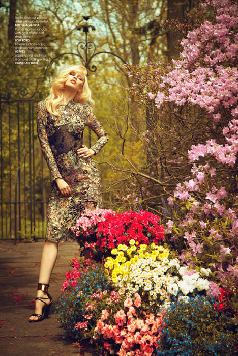 Glam Country Garden Fashion - The Luxure Magazine