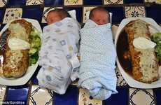 Baby-Sized Burritos - The Gorditos Mexican Restaurant Offers Free Dish to Camera-Happy Parents