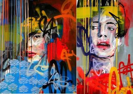 Dripped Classical Street Art - Kilmany-Jo Liversage's Art Series at Worldart Gallery is Classi