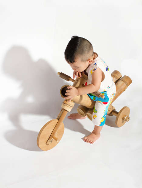 All-Natural Baby Bikes - The a21studio Bamboo Bicycle is Made Using Nothing but Wood and Rope