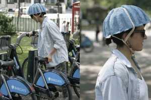 The Paper Pulp Helmet is Designed to Make Bike-Sharing Safer
