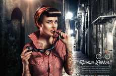 Tastily Tantalizing Bike Ads - Retro Vixens Pose with Delicious Sweets for Lekker Bicycles