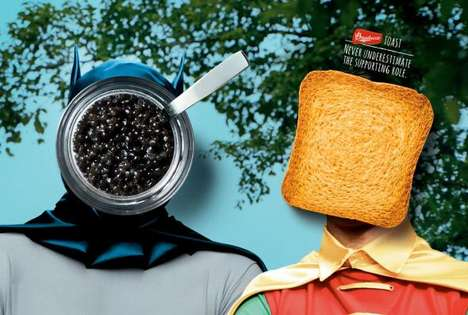 Toasted Sidekick Campaigns - These Bauducco Toast Ads Feature Batman and Robin