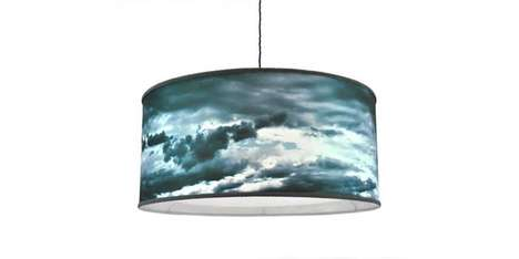 Poetically Stormy Lampshades - The Stormy Sky Shade Decorates Living Spaces with a Storm Pattern