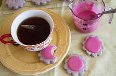 Purple Hibiscus Treats - These Hibiscus Tea Biscuits are Topped with a Delicious Glaze