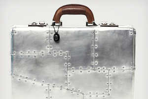 Timothy Oulton's Raleigh Spitfire Luggage Channels a Fighter Jet Flair