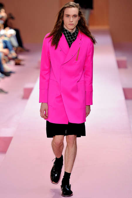 Bubblegum Pink Menswear - Paul Smith Models are Pretty in Pink for Paris Men