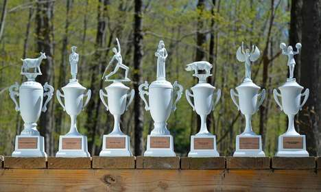 Custom Created Novelty Trophies - This Award Trophy is Customizable to Fit Any Humorous Celebration