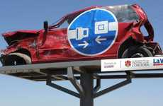 Mangled Automobile Road Signs