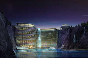 The Songjiang Hotel is Built Straight into an Abandoned Quarry