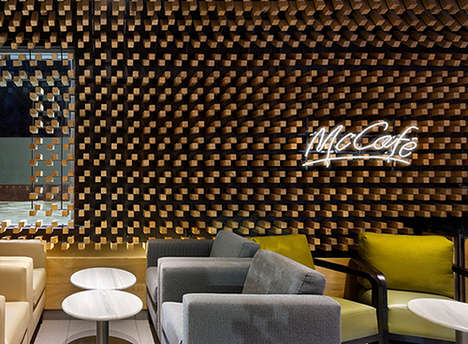 Upscale Fast Food Cafes - This Fast Food Restaurant Design Encourages Lounging