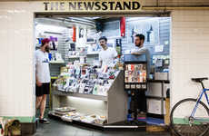 Hipster Pop-Up Newsstands