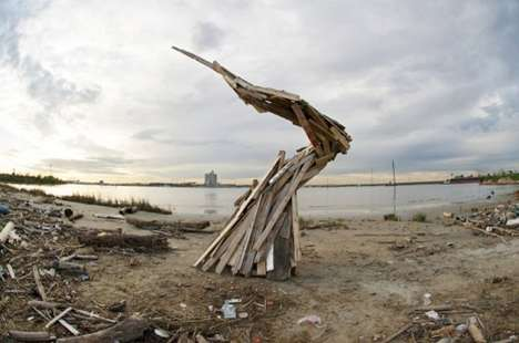Manmade Waste Sculptures - Human Debris by Jeremy Underwood Explores the Pervasion of Pollution