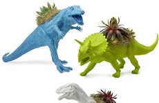 Mini Dino Planters - These Neon Dinosaur Planters are Ideal for Those Who Love Prehistoric Creatures