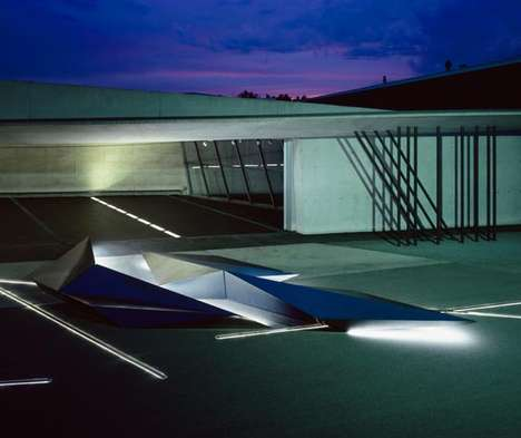 Polished Prismatic Plane Installations - Prima by Zaha Hadid for Swarovski Features Sharp Angles
