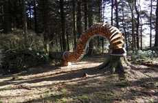 Surreal Fallen Tree Sculptures