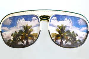 Jade Foures-Varnier Fills in Stylish Retro Sunglasses with Scenery
